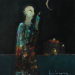 Buddha pointing at the moon