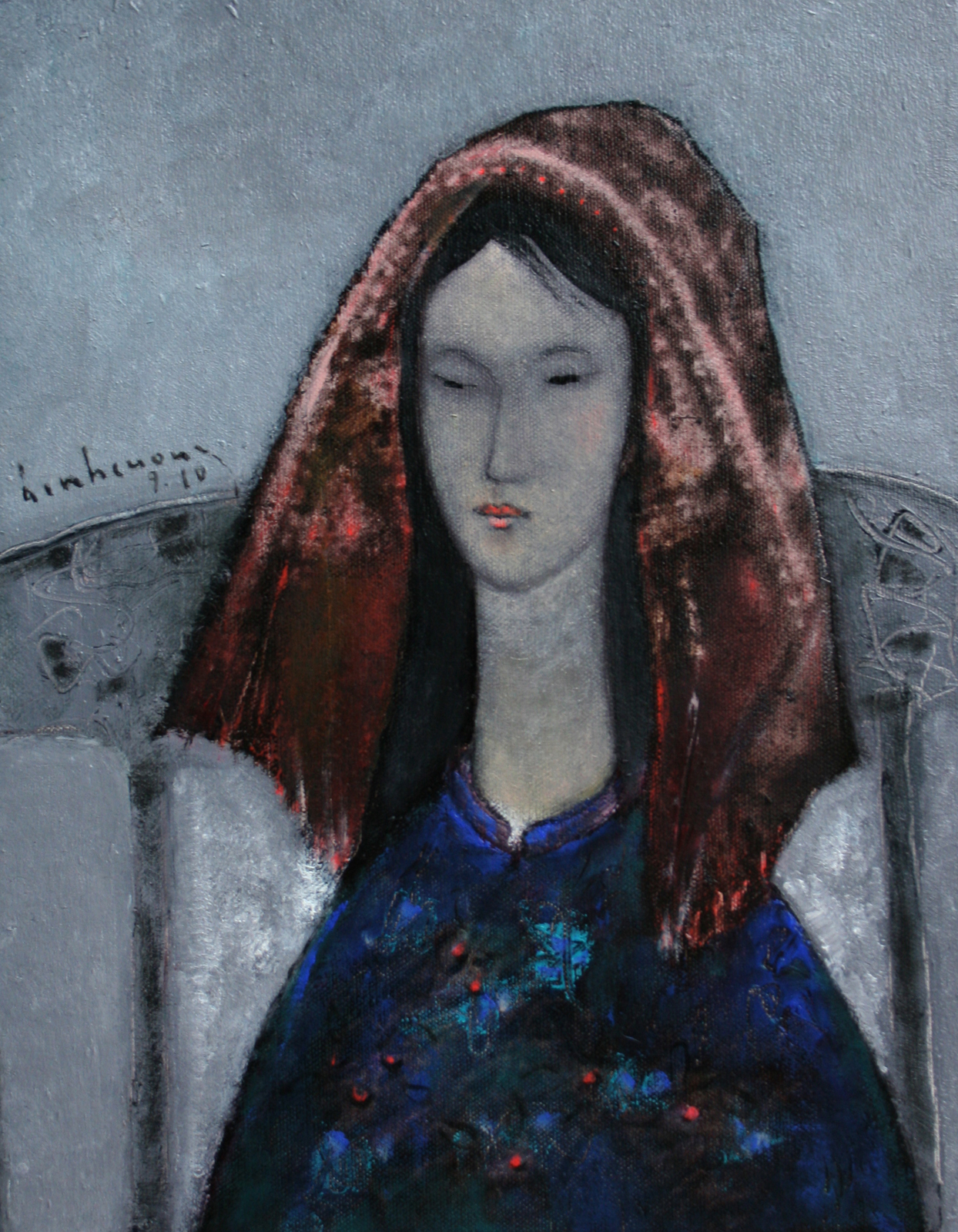 Portrait with scarf (1)